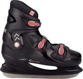 Nijdam 0099 IJshockeyschaats XXL - Hardboot - Maat 49 - Zwart/Rood
