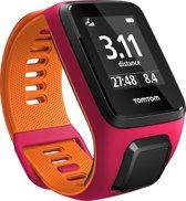 TomTom Runner 3 Cardio - Sporthorloge - GPS + Hartslag - Small - Roze/Oranje