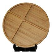 Bamboe Serveerschaal 4-Vaks 'Rond'