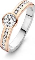 Moments Ring  15080AP/58 Zilver roséverguld18.50 mm (58) Ring met stenen Zirkonia