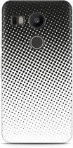 LG Nexus 5X Hoesje zwart witte cirkels