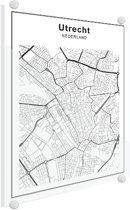 Stadskaart - Utrecht Plexiglas 90x120 cm - Plattegrond