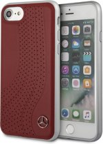 iPhone 8/7/6s/6 hoesje - Mercedes-Benz - Rood - Leer