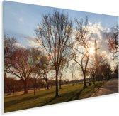 De zon verstopt achter de National Mall Plexiglas 90x60 cm - Foto print op Glas (Plexiglas wanddecoratie)