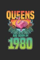 Queens Are Born In 1980: Blank Lined Notebook / Journal (6 X 9) - Birthday Gift and Anniversary Gift for Women