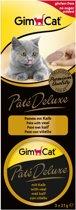 GimCat Pate Deluxe - Kalf - Kattensnack - 3 x 21g
