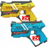 Light Battle Anti-Cheat laserpistolen set - 2x geel en 2x blauw