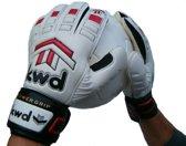 KWD Keeperhandschoen Powergrip - Wit/rood - Maat 5,5