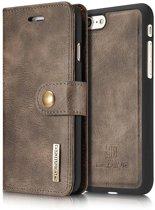 DG-Ming Magnetische Leren Wallet iPhone 7/8 - Coffee Bruin