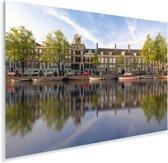 Prinsengracht in het centrum van Amsterdam Plexiglas 180x120 cm - Foto print op Glas (Plexiglas wanddecoratie) XXL / Groot formaat!