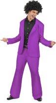 Paars disco kostuum voor heren  - Verkleedkleding - XL