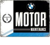 BMW Motor Maintenance Number 1 Metalen wandbord in reliëf 30x40 cm