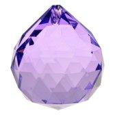 Yogi & Yogini naturals Regenboogkristal bol violet AAA kwaliteit (4 cm)