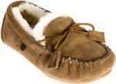 Warmbat dames pantoffel - Taupe - Maat 41