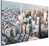 FotoCadeau.nl - Centrum San Francisco Aluminium 90x60 cm - Foto print op Aluminium (metaal wanddecoratie)