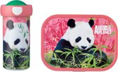 Mepal Campus Lunchset - Schoolbeker en Lunchbox - Animal Planet Panda - Roze