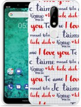 Nokia 5.1 Plus Hoesje I Love you