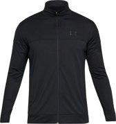 UA Sportstyle Pique Jacket 1313204-001, Mannen, Zwart, Sporttrui casual maat: S EU