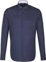 Seidensticker overhemd tailored fit donkerblauw, maat 43