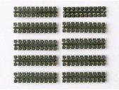 Ministeck 10 x 1 Kleurstrips - olijfgroen