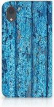 iPhone XR hoesje met magneetsluiting Wood Blue