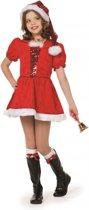 Luxe kerst kostuum voor meisjes 140