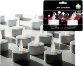 Witte LED theelichtjes 2 stuks - LED kaarsen