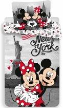 Disney Minnie Mouse New York - Dekbedovertrek - Eenpersoons - 140 x 200 cm - Multi