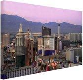 Las Vegas skyline bij zonsondergang Canvas 60x40 cm - Foto print op Canvas schilderij (Wanddecoratie)