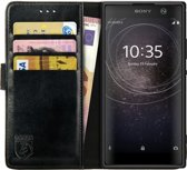 Rosso Element Sony Xperia XA2 Hoesje Book Cover Zwart