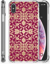 iPhone Xs Max  TPU-siliconen Hoesje Design Barok Pink
