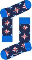 Happy Socks Nautical Star Sokken - Blauw - Maat 36-40