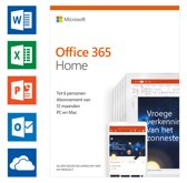 Microsoft Office 365 Home - 1 jaar abonnement (cod