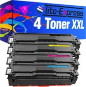 PlatinumSerie® set 4 toner XXL alternatief voor Samsung CLT-504 S black cyaan magenta yellow L