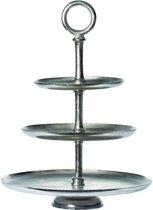 Riverdale Vintage - Etagere 3 laags - Zilver - 62 cm