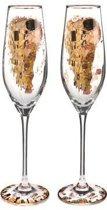 Gustav klimt: The Kiss Champagneglazen - 2 stuks