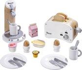howa Ontbijt instellen hout wit voor Kinderkeuken 4856