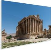 De best bewaarde Romeinse tempel ter wereld in Baalbek Plexiglas 90x60 cm - Foto print op Glas (Plexiglas wanddecoratie)