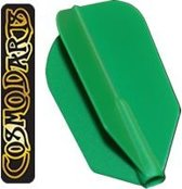 Cosmo Darts Fit Flight Super Slim Green  Set à 3 stuks Donker Blauw