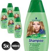 Schwarzkopf Shampoo 7 Kruiden - Voordeelverpakking 5 x 400ml - Shampoo