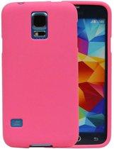 Samsung Galaxy S5 Hoesje Sand Look TPU Roze