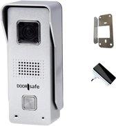 Internet deurbel met camera, gratis opslag in app, op SD, of zelfs NAS, van aluminium - met gong en beugel - Doorsafe 6605