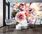 Fotobehang Vlies | Abstract | Roze, Paars | 368x254cm (bxh)