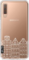Casetastic Softcover Samsung Galaxy A7 (2018) - Amsterdam Canal Houses White