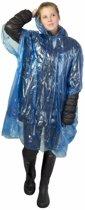 5x wegwerp regenponcho blauw - poncho