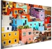 FotoCadeau.nl - Kleurrijke steden van Mexico Aluminium 60x40 cm - Foto print op Aluminium (metaal wanddecoratie)