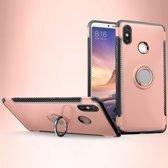 Mobigear Magnetic Ring Holder Hoesje Rose Goud Xiaomi Mi Max 3