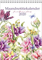 Maandnotitiekalender 2020 Janneke Brinkman A4 'Tulpen'