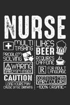 Nurse: Medizinisches Multitasking Notizbuch liniert DIN A5 - 120 Seiten f�r Notizen, Zeichnungen, Formeln - Organizer Schreib