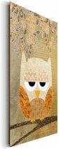 Uiltje  - Schilderij 60 x 90 cm